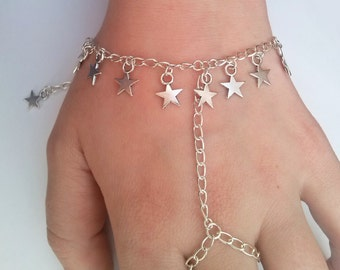 Stars Slave Chain Bracelet , Slave Bracelet , Stars Bracelet , Celestial Bracelet , Celestial Jewelry , Handmade Jewelry , Bohemian Jewelry