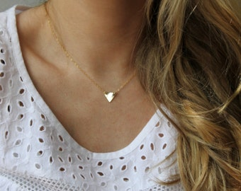 Little Triangle Necklace // 14k Gold Fill Necklace
