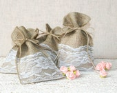 Rustic favor bags, country wedding favors, burlap wedding decor, Wedding gift bag, DIY wedding favor bags