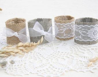 Burlap Wedding Napkin Rings, Rustic Wedding Decor, Rustic Wedding Napkin, Wedding Table Decor,  Rustic Wedding, Rustic napkin holder