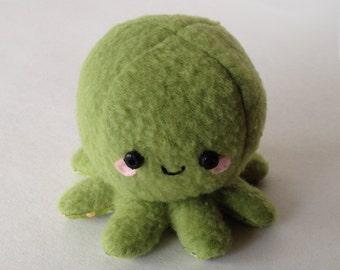 Adorable Fleece Mini-Octopus Plush - Lime