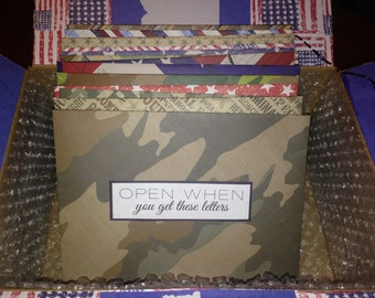 "10 ""Open When"" Letters, Pre-Made, Army Open When Letters, Military Open When Letters, Long distance, Army girlfriend, Care Package"