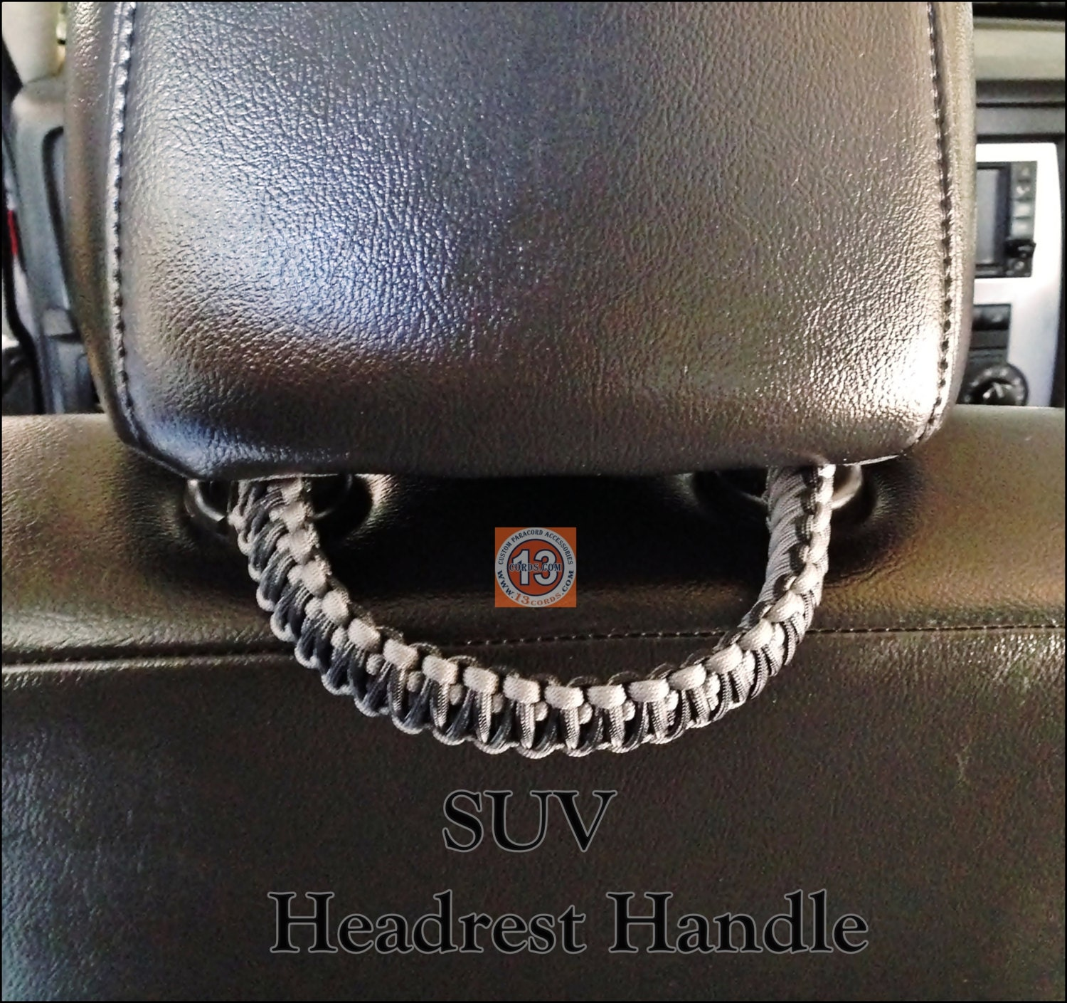 Universal SUV Paracord Headrest Grab Handle Set Made To Order