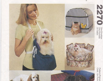 McCall's Craft Pattern 2270 Pet Dog and Cat House, Sofa, Carrier, Pillow and Fold-Up Bed