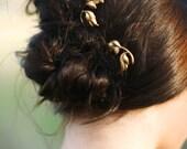 Dainty Gold Leaf Hair Pin Leaves & Twig Bobby Pin Fall Hair Clip  Hair Accessory  Woodland Bobby Pins Fall Wedding Hair Accessories