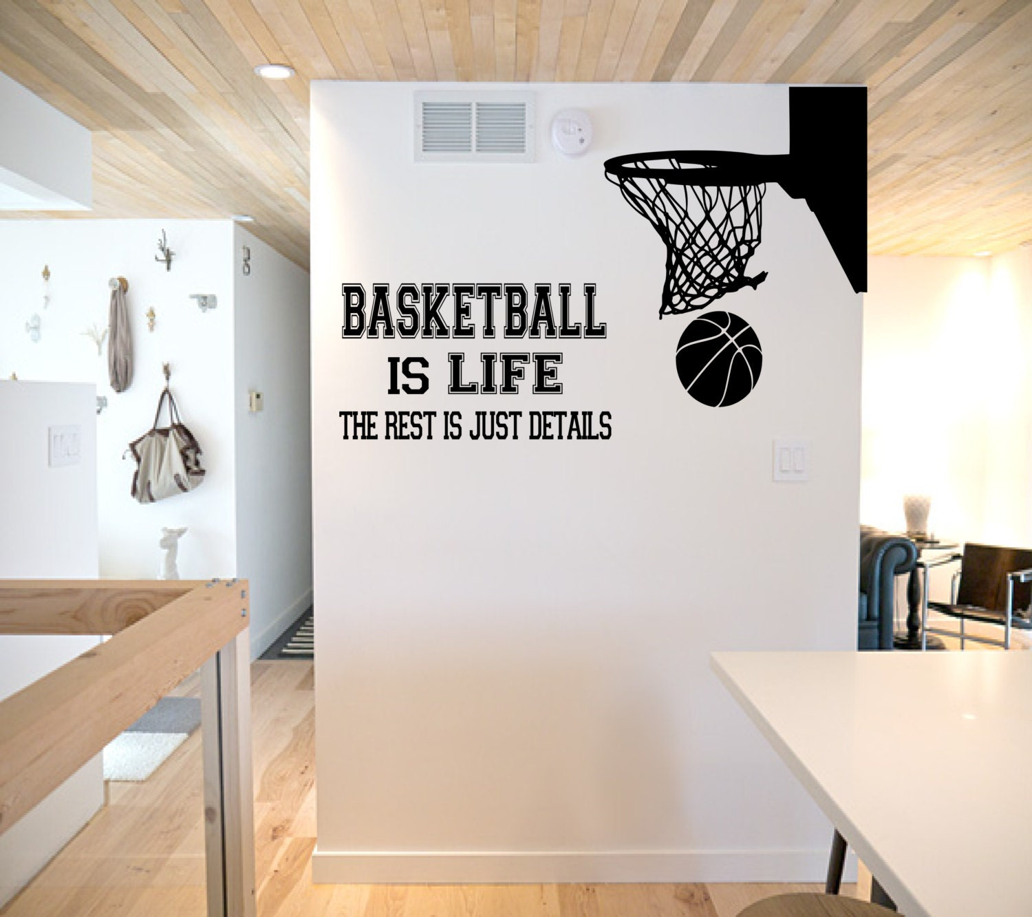 Basketball is life wall decal basketball wall decor for Basketball wall decals