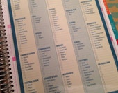 D19 Laminated Dashboard Insert for Erin Condren Life Planner, Plum Planner or Limelife Planner - Clips right into Coils!