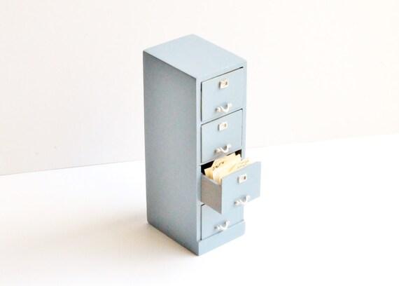 miniature dollhouse vintage furniture file cabinet 1 12 scale office