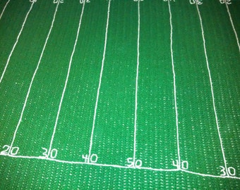 Football Field Afghan Blanket