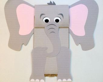 Elephant Paper Bag Puppet - Printable Kid's Craft