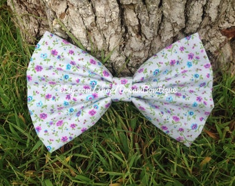 Floral Hair Bow, Flower Hair Bow