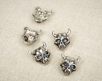 5Pcs Devil Skull Rivet / Fantasy Rivet / Skull Rivet / Devil Rivet / Leather Rivet /#11