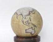 Handmade World Globe - Bespoke & Modern Cartography / Celestial - One of a Kind