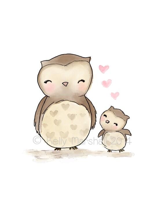 Owl Baby Gifts Australia : Owl nursery art baby and me custom