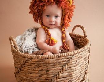 Furryocious Crochet Lion Beanie