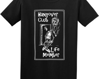 Hangover t shirt- funny t-shirt, mens black tshirt, grunge clothing, rock t shirt, punk tshirt, gifts for men, beer gifts, drinking, uk shop