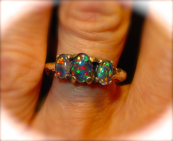 Perfect Opal engagement ring or Opal wedding ring Genuine