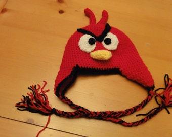 Crochet Angry Bird Hat