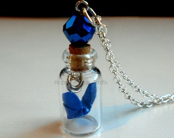 Butterfly in a Bottle Necklace--Mother's Day, Graduation, Birthday Gift