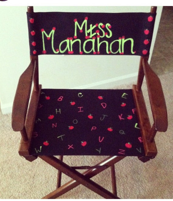 personalized directors chair covers by ewestbrooks on etsy