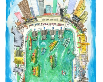 A4 Circular Quays Sydney limited edition print