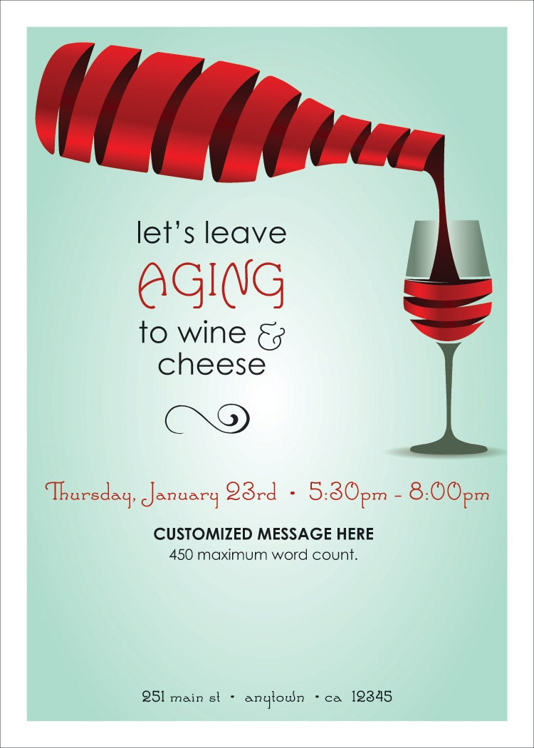 Wine And Cheese Party Invitations Template | futureclim.info