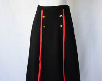 Vintage 1970's 'Stars and Stripes' Nautical Pinup Pencil Skirt Size M