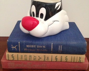 Vintage Sylvester the Cat Mug / Collector's Looney Toons Mug / Sylvester Warner Brothers Mug / Vintage Home Decor Desk Cup / Ceramic Cat Mug
