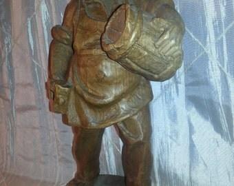 German Carved Hardwood Male Figure