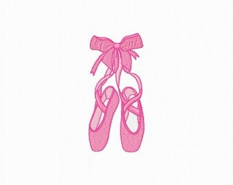 Ballerinas color and Redwork machine embroidery 4 x 4 format