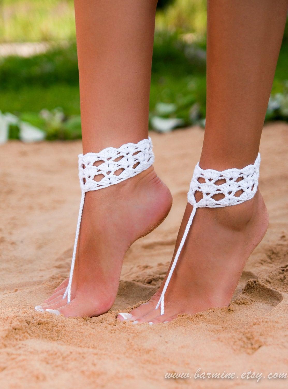 Crochet barefoot sandals Barefoot sandals wedding Wedding