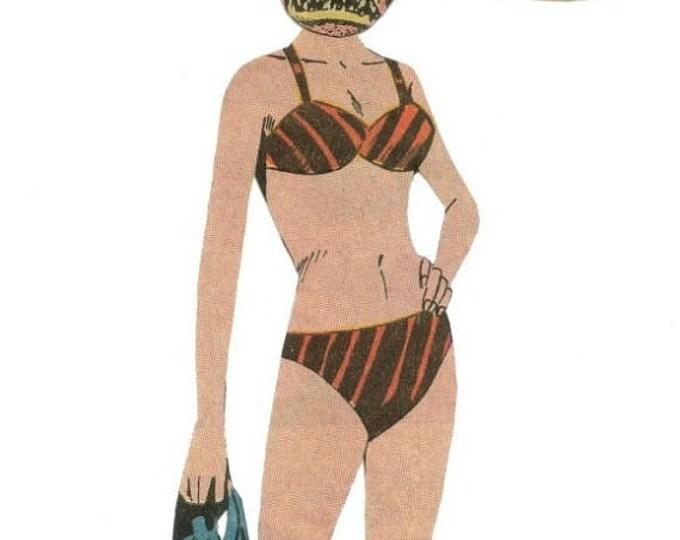 Creepy Monster Artwork, Kitsch Horror Comic Art, Oddity Collage