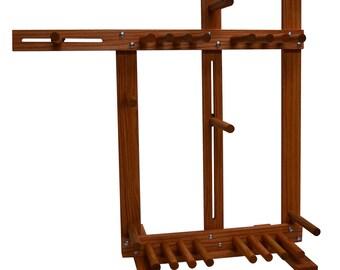 Inkle Weaving Loom - Large Floor Standing Inkle Loom Belt Loom with Double Tension System for Belt Weaving Card Weaving Tablet Weaving Tools