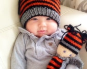 Tiger Hat for Baby, Baby Hat with Ears, Tiger Stripes for Newborn Baby