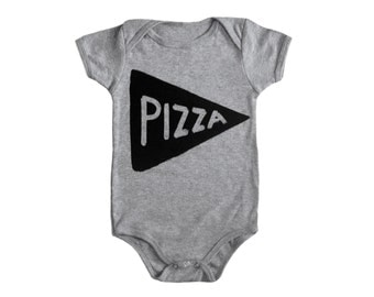 Pizza Baby Bodysuit, hostess gifts for baby shower, mothers day gift, cute baby, new mom gift, newborn onesie, unisex baby clothes, new baby