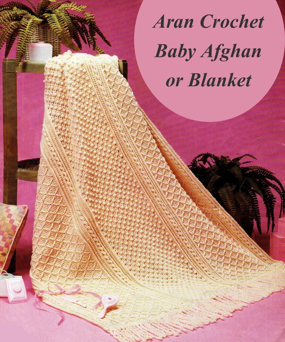 Crochet Aran Baby Blanket Pattern : Baby Afghan Crochet Pattern Aran Baby Blanket Crochet