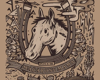 Race Horse Screenprint - Horse print 18x24