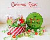 Kit 63 Christmas Candy Tags for Chocolate Kiss-Neighbor Treat, Classroom Treat, Party Favor