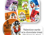 Valentines Day Card & Candy Wraps Pirates Boys Cards