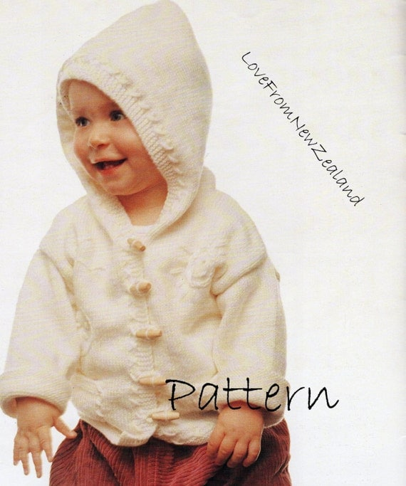 Knitting Pattern For Toddler Duffle Coat : PDF Pattern / Hooded Jacket / Baby Knitting by ...