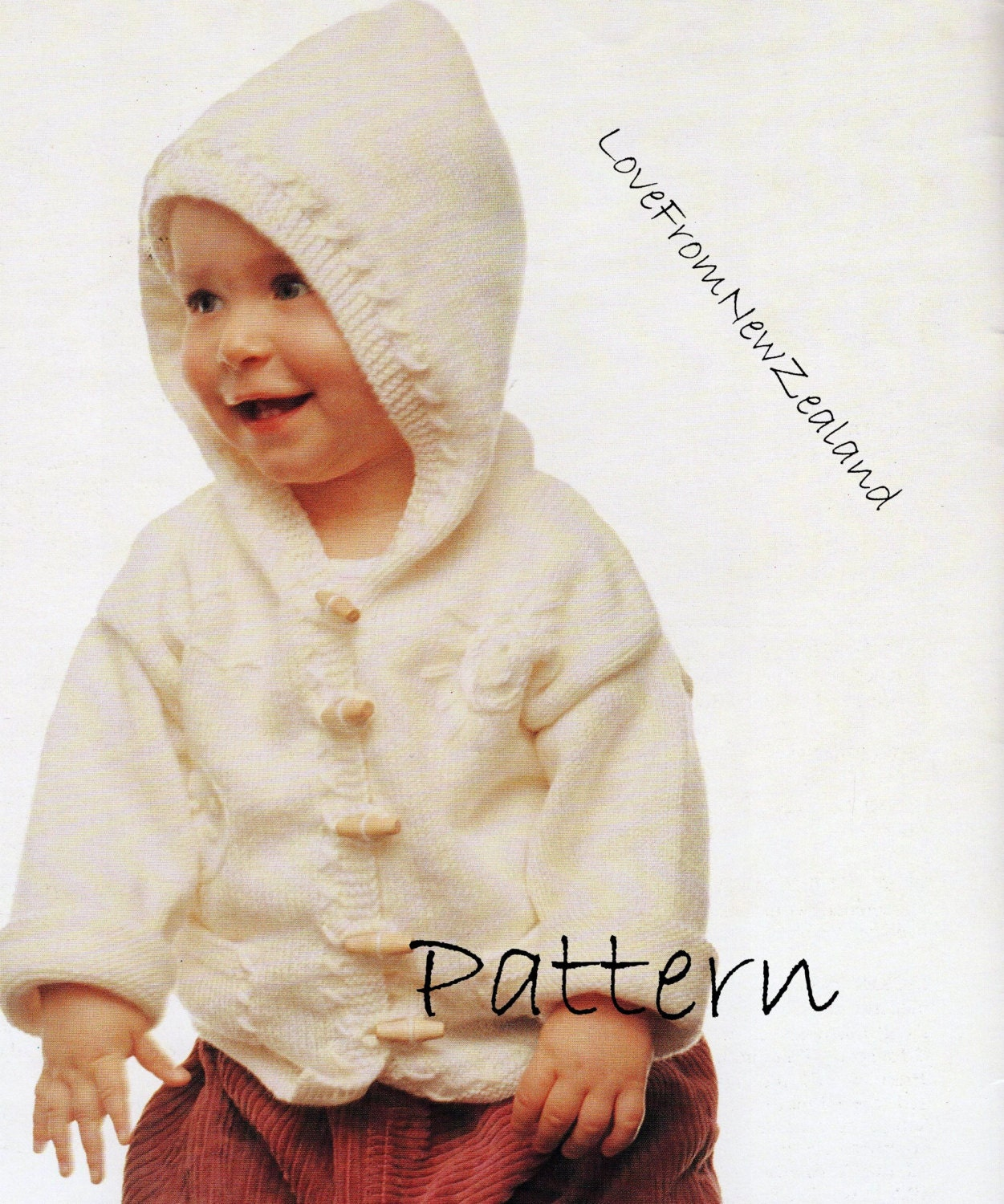 PDF Pattern / Hooded Jacket / Baby Knitting by LoveFromNewZealand