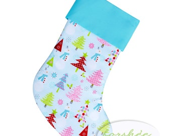 Baby Boy First Christmas Stocking Personalized Stocking Option Available | READY TO SHIP | CS0017