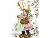 Holly Hobbie - Sarah Kay - no1 - A4 Digital Collage Sheet - Printable - For unlimited number of prints