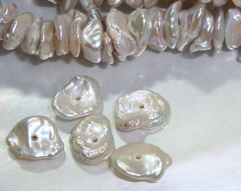 Full Strand, 5-7mm, Freshwater Pearl, Fresh Water Keshi Pearls, CornFlake Pearl, Lustrous Pearl, Iridenscent, Natural Color, 25% sale