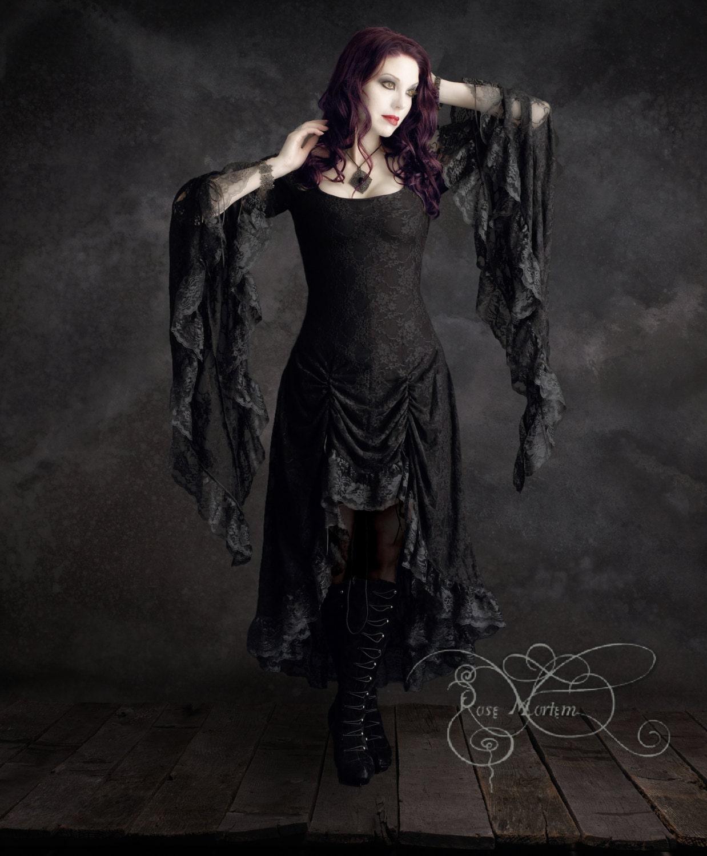 Cassiel fairy tale romantic gothic vampire dress in lace