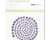 Kaisercraft Self Adhesive Rhinestones  100 Package 3 Sizes   LILAC Purple Violet sb705 Crystal Gemstones