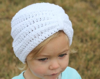 Crochet baby turban hat, any color, any size