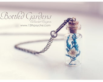 Dried flower vial Necklace,terrarium necklace,Bottle Pendant,Real Flower bottle necklace,botanical jewelry,inspirational women gift for her