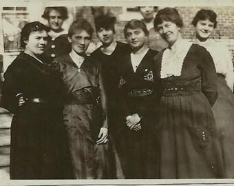 Old Photo - Eight Ladies - Group Photo - Circa 1920s