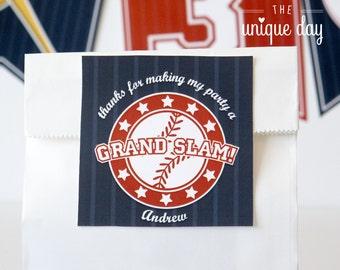 Baseball Tags - Baseball Birthday - Baseball Labels - Thank you tags - Printable - DIY // BAS- 02